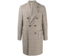 Doppelreihiger Mantel mit Karo