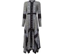 - Hemdkleid mit Paisley-Print - women - Seide - 38