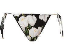 orchid print bikini bottoms