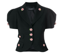 rose embellished cropped jacket