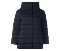 Wattierte Jacke mit weitem Stehkragen