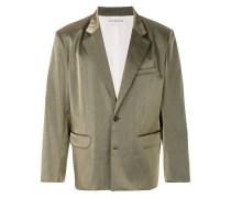 metallic button blazer