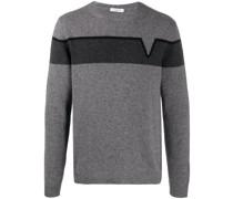 'V-' Intarsien-Pullover