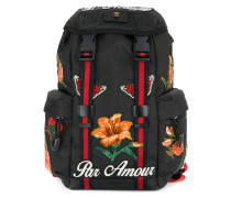 embroidered technical backpack
