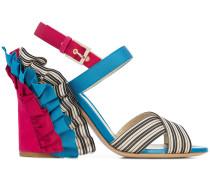 ruffle heel sandals