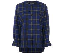 tartan check blouse