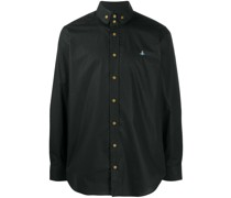 orb-embroidered long sleeved shirt