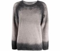 faded-effect knit jumper