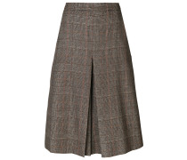 tweed pleat skirt