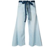Cropped-Jeans mit weitem Bein - women