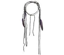Halskette mit Federn und Kristallen