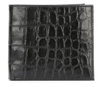 Portemonnaie mit Krokodilleder-Effekt