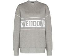 'Reflective' Sweatshirt mit Logo-Print