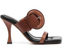Sandalen mit Schnallen 100mm