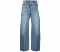 Weite Jeans mit hohem Bund