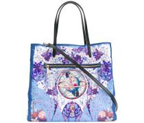 floral lunar print tote bag