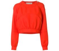 cropped pocket detail sweatshirt