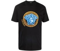 T-Shirt mit Medusa-Stickerei