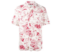 Bowlinghemd mit Seesturm-Print - men - Viskose