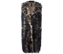 'Blackpoint' Shearling-Mantel ohne Ärmeln