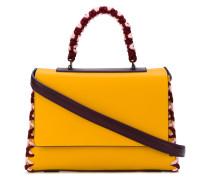 Handtasche mit Kontrastsaum