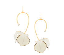 floral drop miss-matched earrings