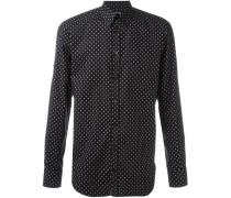 Button-down-Hemd mit Totenkopf-Print