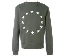 Sweatshirt mit Sterne-Stickerei