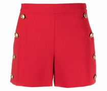 Shorts mit Zierknöpfen