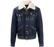 Jeansjacke in Distressed-Optik