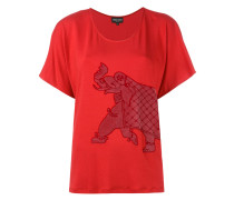 elephant embroidered top - women