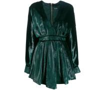 Ausgestelltes Kleid mit Metallic-Effekt