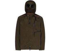 goggle hooded shell jacket