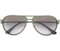 'Greca Stars' Pilotenbrille mit Kristallen