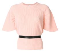 belted shortsleeved jumper