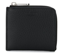 zip-up leather wallet