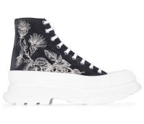 High-Top-Sneakers mit floralem Print
