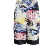 Shorts mit Tropen-Print