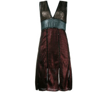 'Chainmail' Kleid in Metallic-Optik