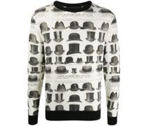 Pullover mit Hüte-Print