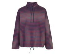 Gestreifter Oversized-Pullover