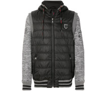 panelled sleeves quilted jacket
