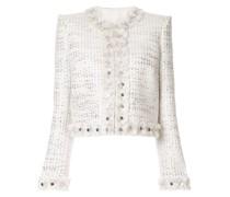 Tweed-Jacke in Metallic-Optik