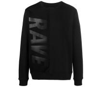 'Rave' Sweatshirt mit Netzeinsatz