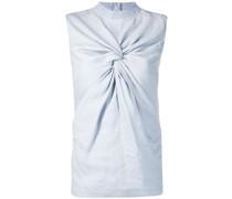 Ärmellose Bluse mit Knotendetail