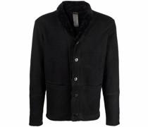 Shearling-Jacke mit Knopfverschluss