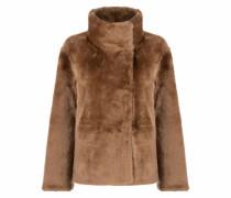 Shearling-Jacke mit Stehkragen