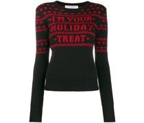 Pullover mit Weihnachts-Print