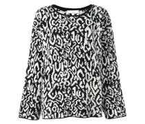 Intarsien-Pullover mit weiten Ärmeln