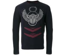 Bestickter Pullover mit schmaler Passform